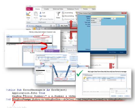 microsoft access database custom built utilities