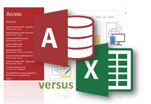 microsoft access database versus excel image