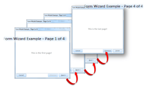 microsoft access form wizard
