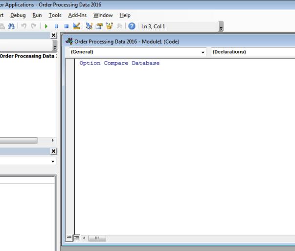 microsoft access vba prgramming vbe