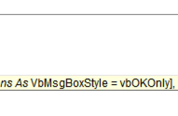 microsoft vba code options tips