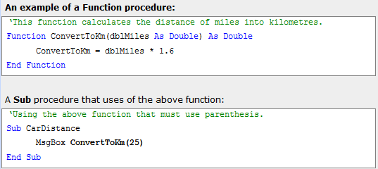 vba procedure 5