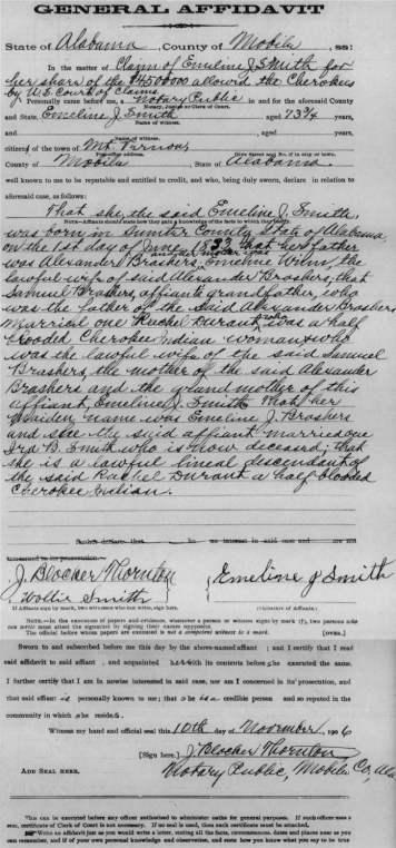 Emeline J. Smith General Affidavit