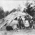 Ojibway wigwam. Leech Lake, Minnesota, 1896.