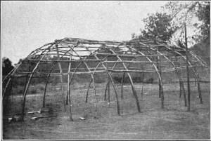 Frame of an Osage habitation, near Hominy, Okla., 1911