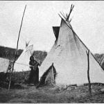 Tipi of Gi-he-ga, an Omaha chief. Photograph by W. H. Jackson, 1871.