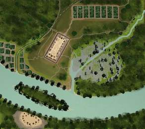 Ocmulgee in 900AD Ariel View