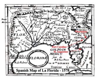 1578 Spanish map of North America