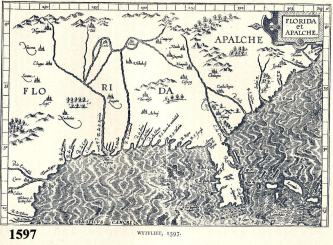 1597 Wytfliet Map