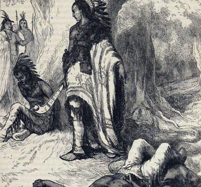 Quarrel between the Narragansetts and Mohegan