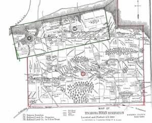 Tuscarora Reservation Map, 1890