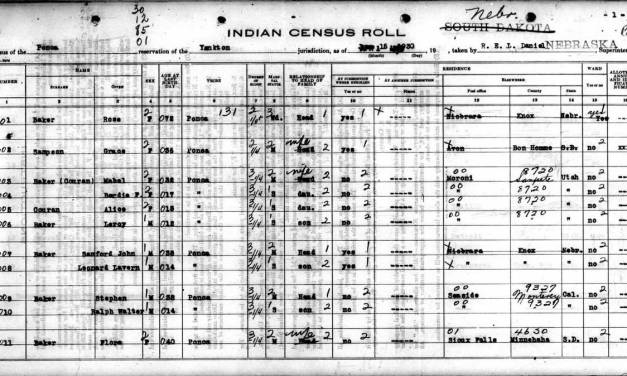 1930 Ponca Census Extraction