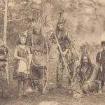 Group of Pamunkey of a generation ago in dance costume.
