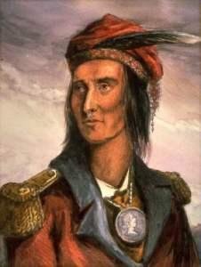 Lossing's color portrait of Tecumseh