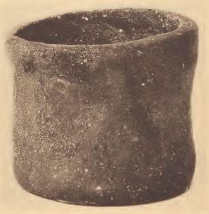 Pamunkey cylindrical pottery jar.