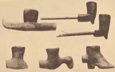 Recent Pamunkey pipes.