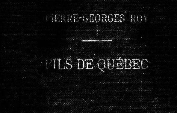 Sons of Quebec 1778-1843