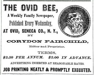Ovid Bee Advertisement