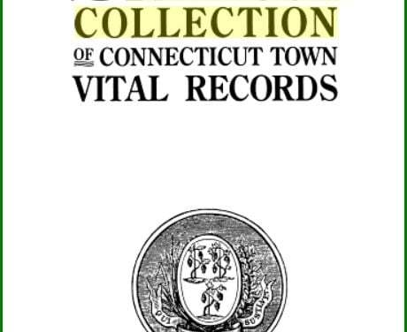 Barbour Collection of Connecticut Vital Records