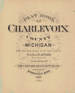 1901 Charlevoix County Michigan Plat Book
