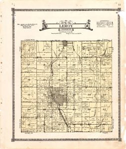 1921 Farm Map of Leroy Township, Audubon County, Iowa