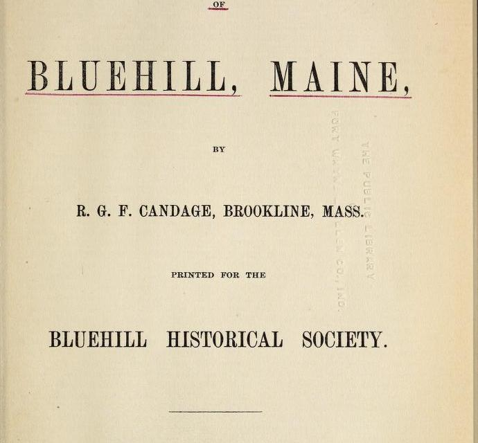 Grant Genealogy of Blue Hill, Maine