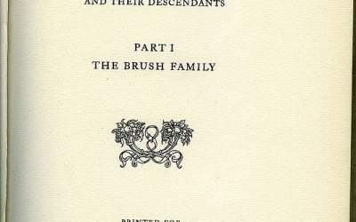 A Genealogy of Isaac Elbert Brush
