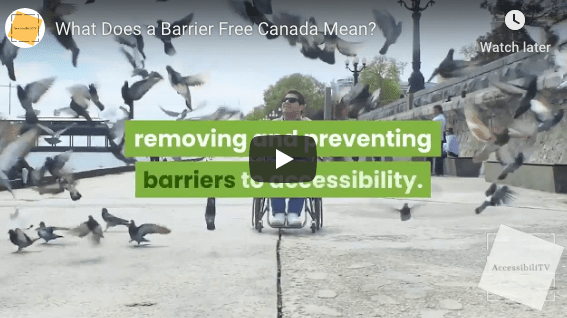 What Does a Barrier Free Canada Mean?