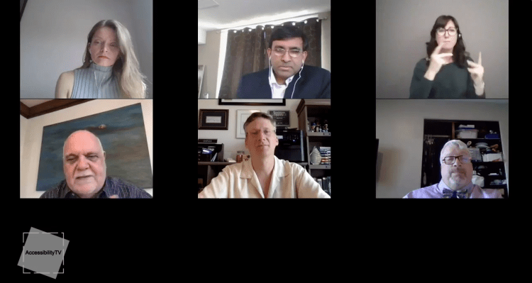 Max Brault of BDO Canada, Alfred Spencer Accessibility Directorate Ontario and Mahadeo Sukhai of the CNIB are interviewed by Beth Robertson of the Conference Board of Canada about Life After Covid-19 for persons with disabilities on Accessibility TV