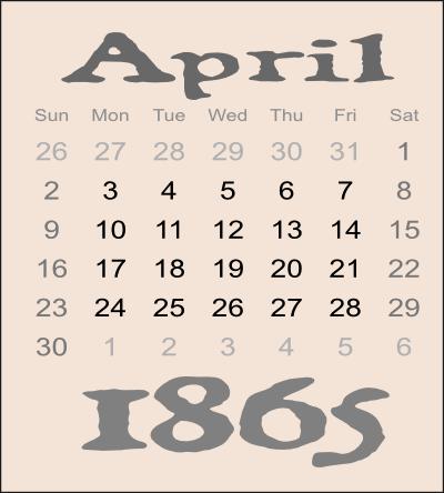April1865-Calendar