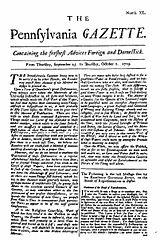 The Pennsylvania Gazette 1728 1800