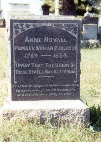 Anne Royall's Tombstone