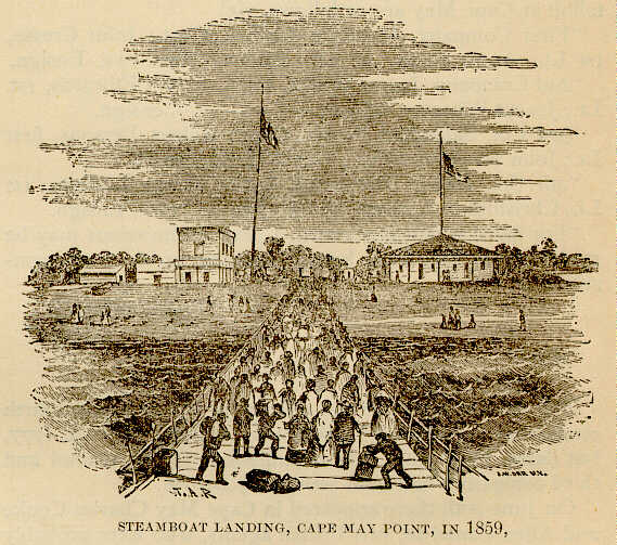 Steamboat Landing, Cape May Point, in 1859