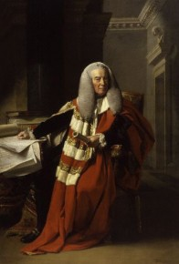 William Murray, 1st Earl of Mansfield, in his official robes as Lord Chief Justice