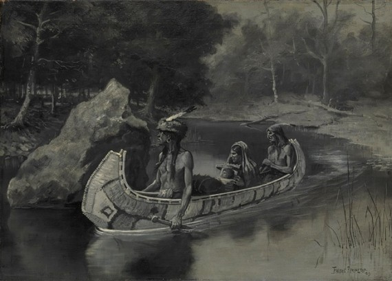 """Hiawatha's Friends"", an illustration by Frederick Remington for the poem, 1889."