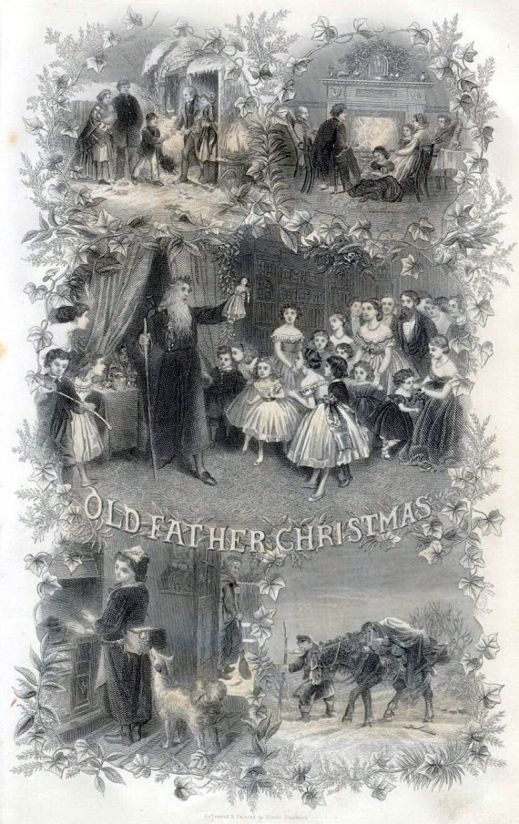 Old Father Christmas - Godey's Lady's Book 1867