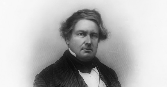 A not-often seen image of Millard Fillmore.  Via Accessible Archives.