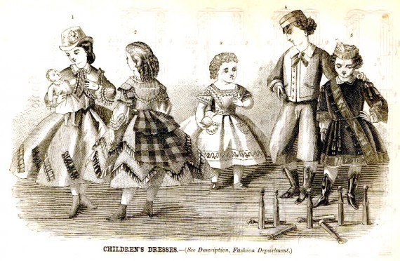 Children's Fashions - Godey's Lady's Book - September 1864