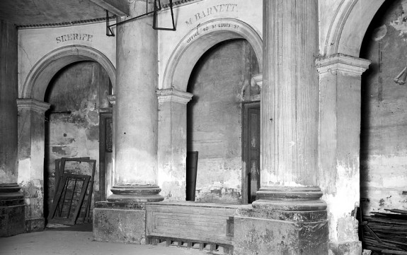 Old slave block in St. Louis Hotel, New Orleans, La.