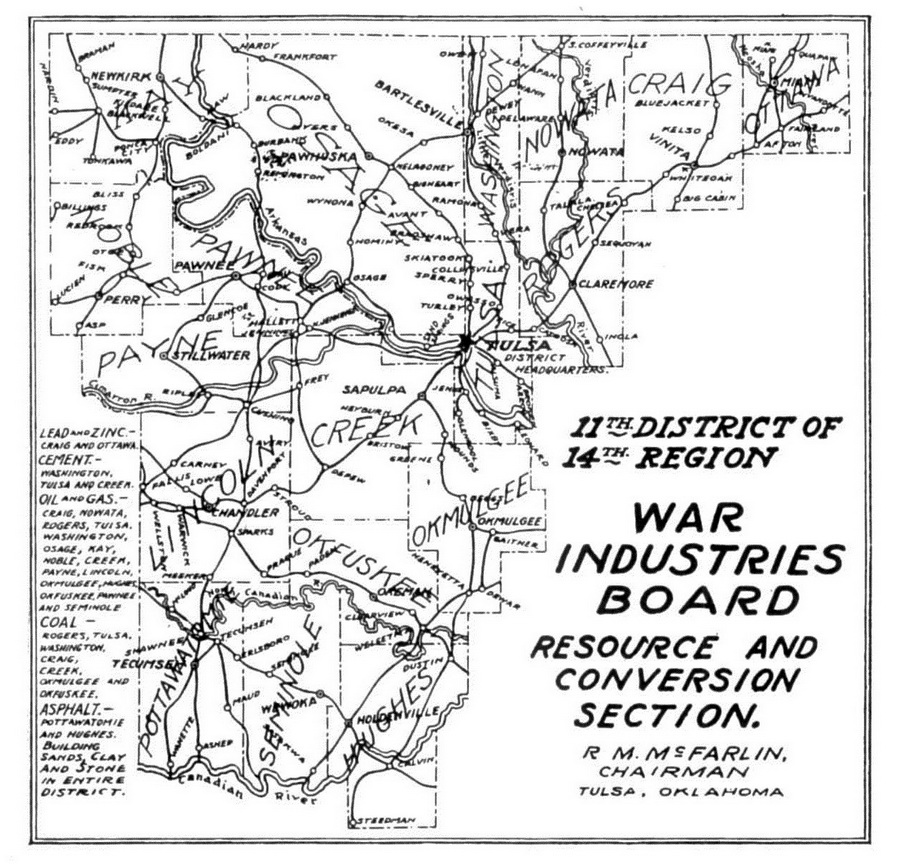 Tulsa County in the First World War