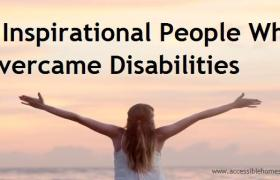 6 inspirational people with disabilities