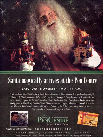 Greg Frewin Santa ad
