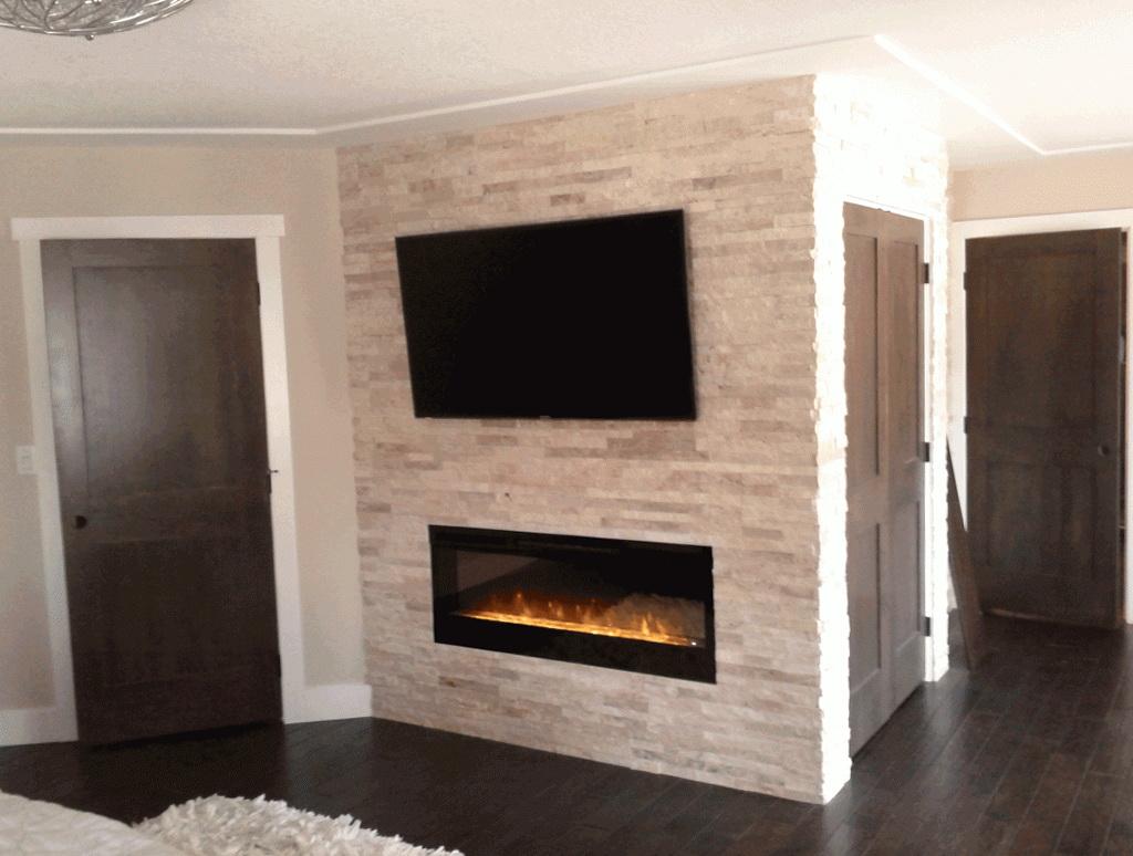 Gas Fireplace Stone Surround Home Design Ideas