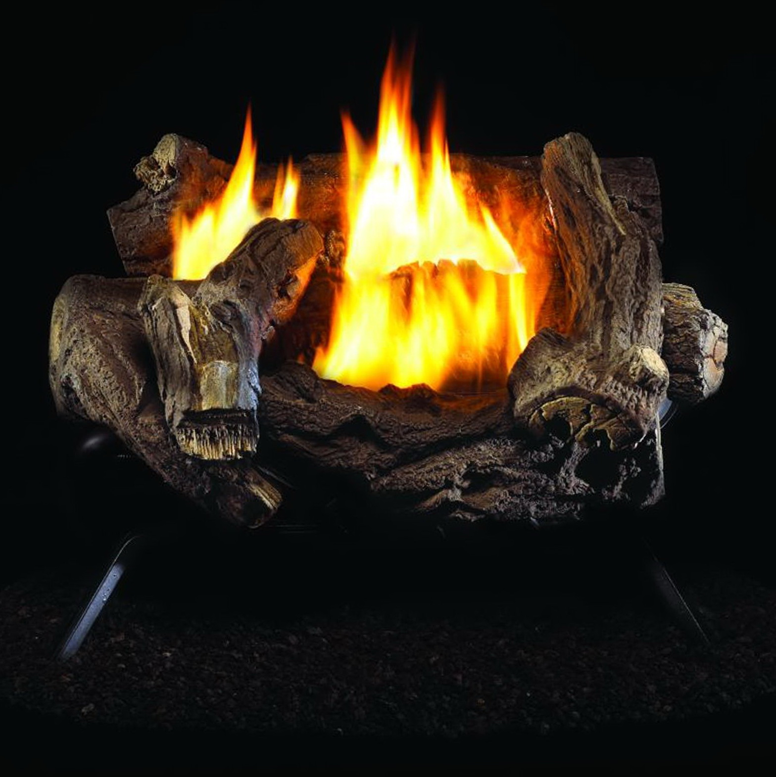 Vented Gas Fireplace Logs With Remote