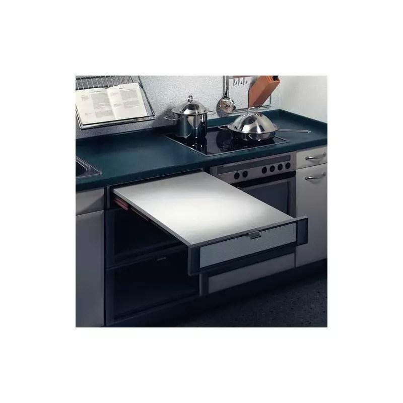 table plan de travail escamotable a encastrer accessoires de cuisines