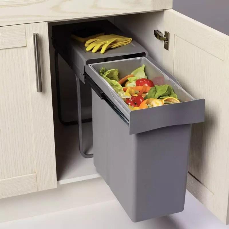poubelle coulissante meuble cuisine 40 litres accessoires de cuisines