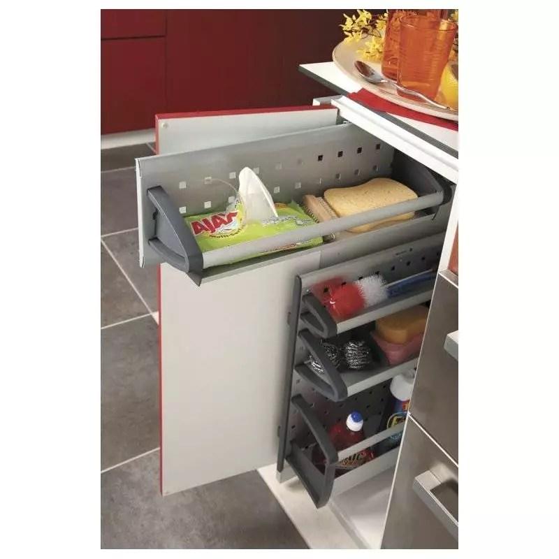 panier de rangement coulissant meuble bas accessoires de cuisine