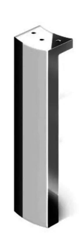 pied de meuble bas contemporain chrome