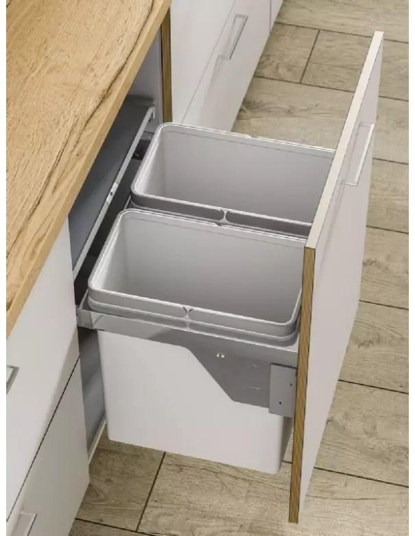 poubelle double bac coulissante premium a fermeture douce