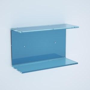 Mensola doppia in plexiglass